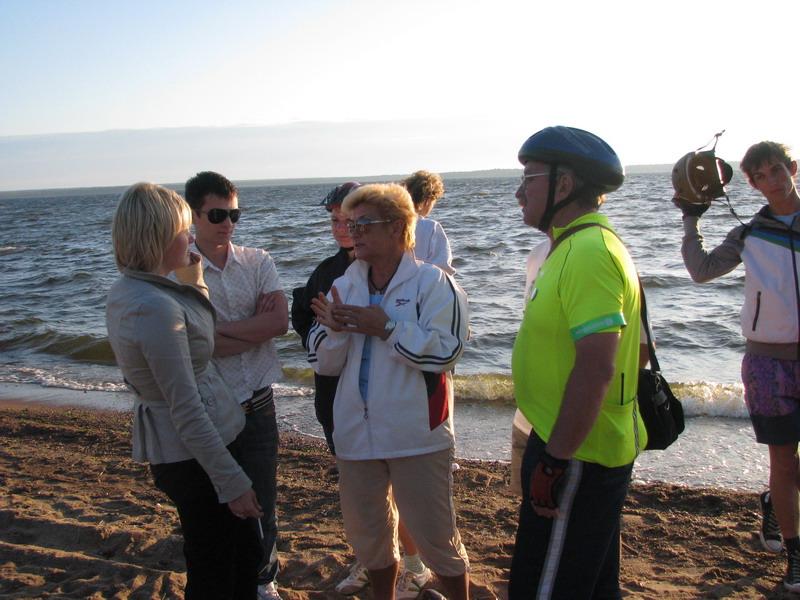 На пляже г. Приморска