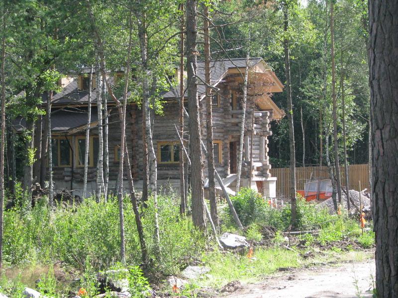 Строительство котеджей в заповедной зоне